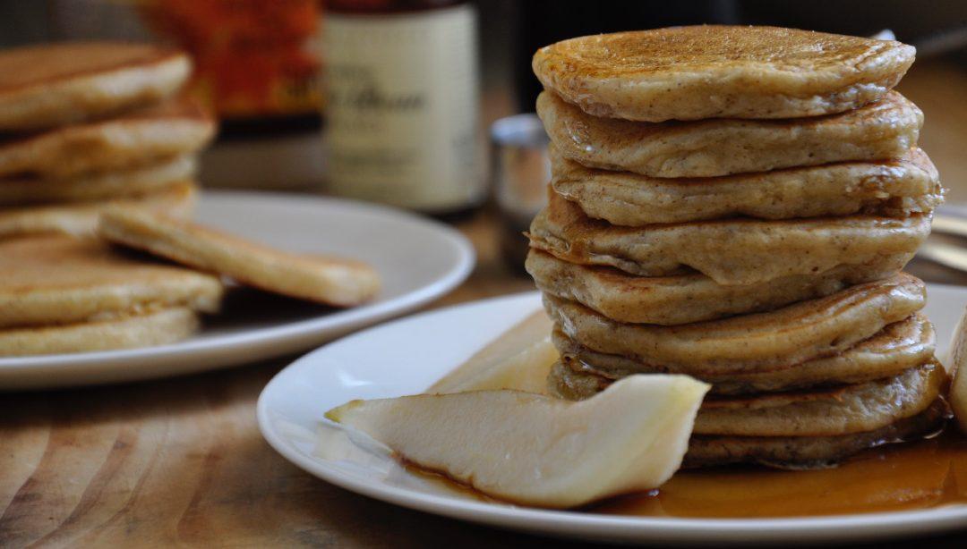 A Pear & Vanilla pancake recipe